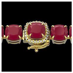 35 ctw London Blue Topaz & Diamond Bracelet 14K Rose Gold