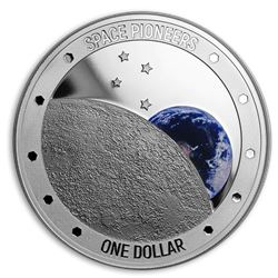 2019 New Zealand 1 oz Silver Proof Space Pioneers