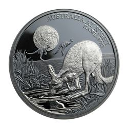 2019 Niue 1 oz Silver Proof Australia at Night (Kangaroo)