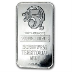 5 oz Silver Bar - Northwest Territorial Mint