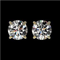 18.99 ctw Swiss Topaz & Diamond Halo Earrings 10K Yellow Gold
