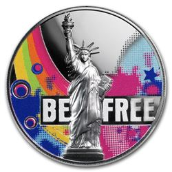 2018 Republic of Cameroon 2 oz Silver Be Free High Relief