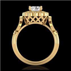 34 ctw Sky Blue Topaz & VS/SI Diamond Necklace 10K Rose Gold