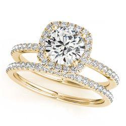 2.05 ctw VS/SI Diamond 2pc Wedding Set Halo 14K Rose Gold
