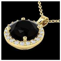 1.20 ctw Intense Fancy Yellow Diamond Art Deco Necklace 18K White Gold