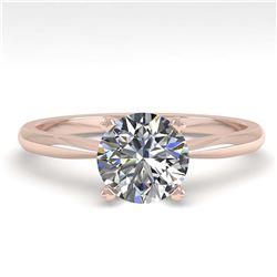 2.1 ctw VS/SI Diamond Solitaire Halo Necklace 14K White Gold