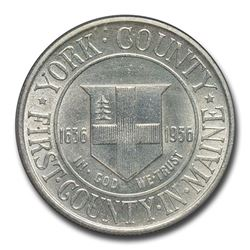 1936 York County\, Maine Tercentenary Half Commem MS-63 PCGS