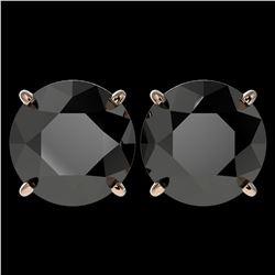 1.50 ctw VS Black Diamond 3 Stone Ring 10K White Gold