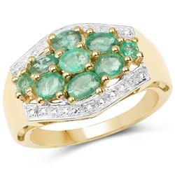 1.98 ctw Genuine Amethyst .925 Sterling Silver Ring