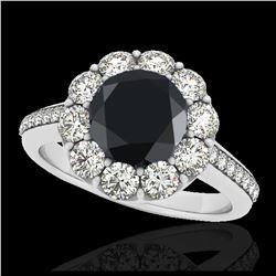 1.35 ctw SI/I Fancy Intense Yellow Diamond Ring 10K White Gold