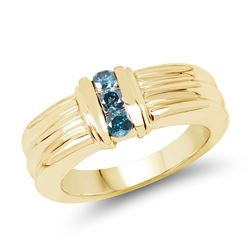 2.78 ctw Genuine Blue Topaz and Tanzanite .925 Sterling Silver Ring
