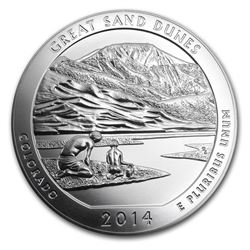 2014 5 oz Silver ATB Great Sand Dunes National Park\, CO
