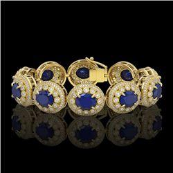 77.35 ctw Fancy Citrine & Diamond Halo Necklace 10K Yellow Gold