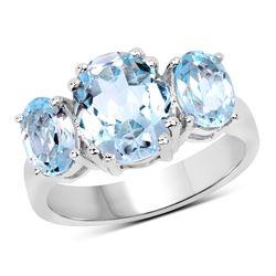 0.66 ctw Genuine White Diamond .925 Sterling Silver Ring