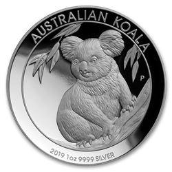 2019 Australia 1 oz Silver Koala Proof (High Relief\, w/Box & COA)