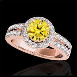 2.15 ctw SI Fancy Blue Diamond Halo Ring 10K White Gold