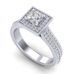 13.85 ctw Emerald & Diamond Ring 14K Rose Gold