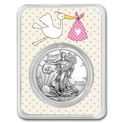 2019 1 oz Silver American Eagle - It's A Girl Delivery
