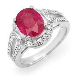 0.83 ctw Ruby & Diamond Ring 14K Rose Gold