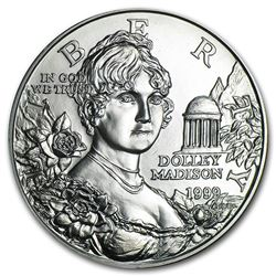 1999-P Dolley Madison $1 Silver Commem BU (Capsule Only)