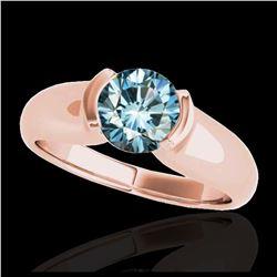 1.57 ctw Intense Blue Diamond Ring 10K White Gold