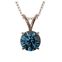 1.01 ctw Ruby & Diamond Ring 18K White Gold