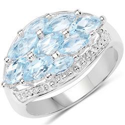 0.44 ctw Genuine Tanzanite .925 Sterling Silver Ring