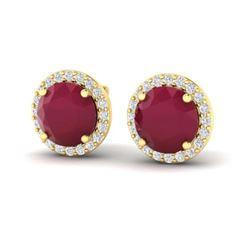 8 ctw Sky Blue Topaz & VS/SI Diamond Heart Earrings 10K Rose Gold