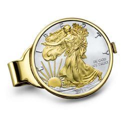 2018 1 oz Gilded Silver American Eagle Money Clip