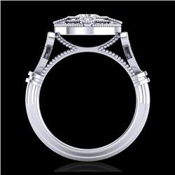 2.9 ctw VS Black Diamond Solitaire Halo Ring 10K Rose Gold