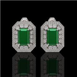 27 ctw Pink Tourmaline & VS/SI Diamond Bracelet 14K White Gold