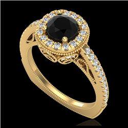 1.75 ctw Fancy Intense Blue Diamond Art Deco Earrings 18K Rose Gold