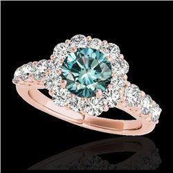 2.34 ctw Ruby & VS/SI Diamond Ring 10K Yellow Gold