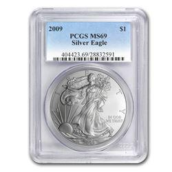2009 Silver American Eagle MS-69 PCGS