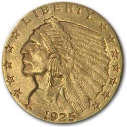1925-D $2.50 Indian Gold Quarter Eagle AU