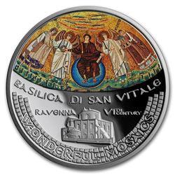 2017 Cook Islands 1 oz Wonderful Mosaics - Basilica di San Vitale