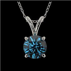1.29 ctw Intense Blue Diamond Ring 10K White Gold
