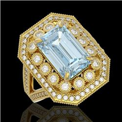 17.35 ctw Tourmaline & Diamond Bracelet 14K Yellow Gold