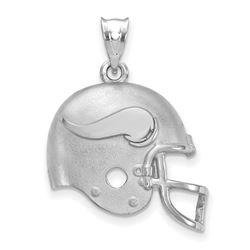 Sterling Silver Minnesota Vikings Football Helmet Logo Pendant