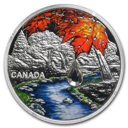 2017 Canada 1 oz Silver $20 Jewel of the Rain: Sugar Maple Leaves