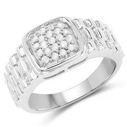 2.12 ctw Genuine Amethyst .925 Sterling Silver Ring