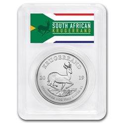 2019 South Africa 1 oz Silver Krugerrand MS-69 PCGS (FS)