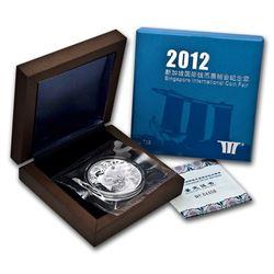 2012 China 1 oz Silver Panda Singapore Coin Fair (w/Box & COA)