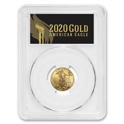 2020 1/4 oz Gold Eagle MS-70 PCGS (FirstStrike®\, Black Label)