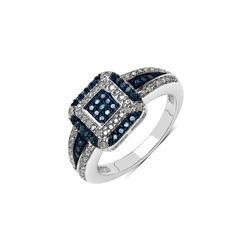 3.14 ctw Genuine Multi Stone .925 Sterling Silver Ring