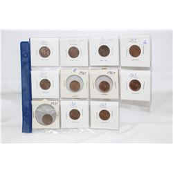 Canada One Cent Coins (11)