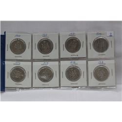 Canada Fifty Cent Coins (8)