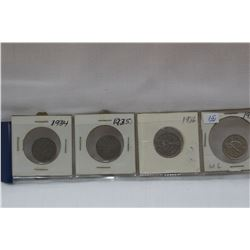 Canada Five Cent Coins (4)