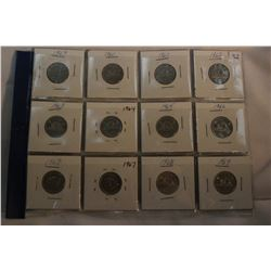 Canada Five Cent Coins (12)