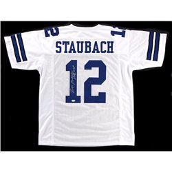 Roger Staubach Signed Custom Jersey With Inscription - JSA COA